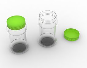 3D print model Pickle Plastic Bottle with Green Cap