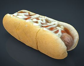 3D asset HOT DOG