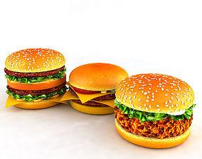3D mcdonalds Hamburger