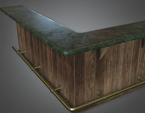 3D model Modular Bar 01 Dive Bar - PBR Game Ready