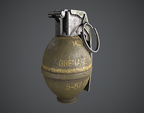 M26 GRENADE LOW POLY 3D asset