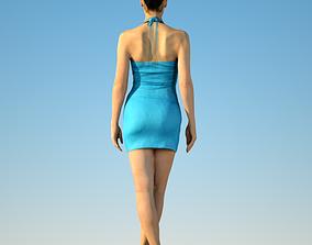 Sexy in blue 3D model