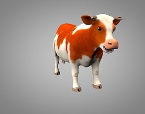 3D asset Cow or bull