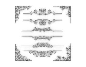 3D model Ornate Swirls 02 Set
