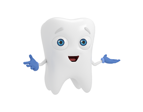 Cartoon Tooth Dentist 3D model