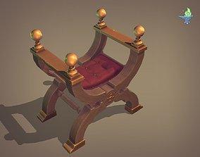 3D asset Curule Seat