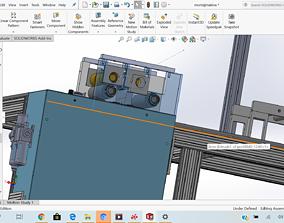 3D model napkin sanitaire making machine