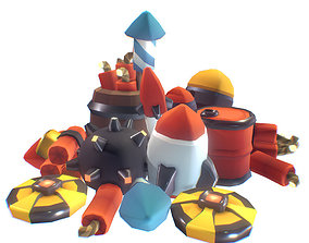 Explosives Set - Smashy Craft Series 3D model