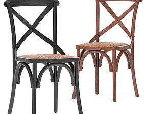 3D model Carterville Solid Wood Dining Chair