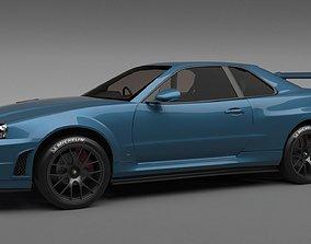 Nissan Skyline GT-R R34 1999 3D model r34