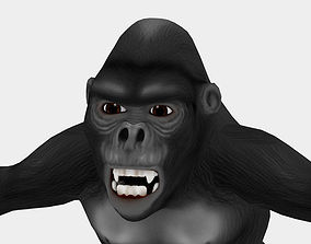 Gorilla cartoon 3D asset