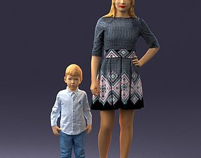 businesswoman Mother and son 0045 3D Print Ready