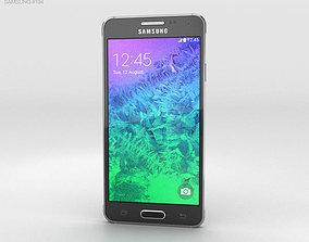 3D Samsung Galaxy Alpha Charcoal Black