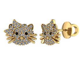 Earring Hello Kitty 3D printable model