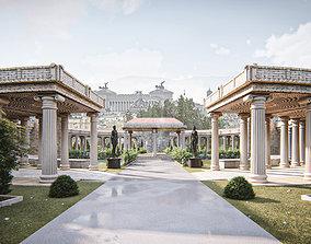 Rome building 3D arch