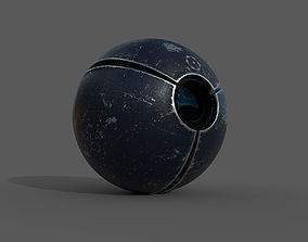 SciFi camera drone - PBR - lowpoly 3D asset game-ready