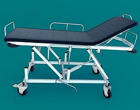 3D model Hospital Gurney