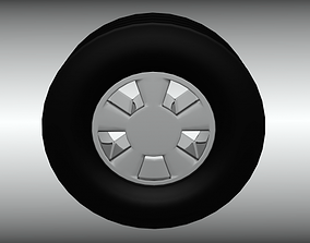3D asset Awesome Super Fast Race Tire