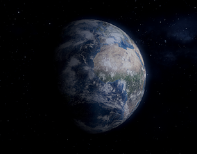 Earth Planet PBR Game Ready 3D asset low-poly