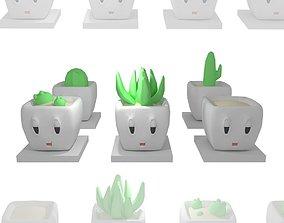 3D model game-ready Planties set