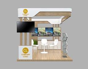 3D model Booth Minimalis 3x3