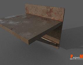 Old Prision Desk v01 3D asset