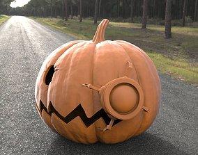 3D print model Halloween Pumpkin With Alien Friend