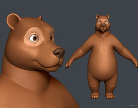 Stylized Cartoon Bear - Biped 3D model