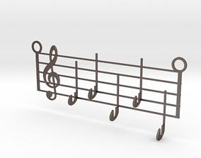 key 3D print model Music Keys Hanger