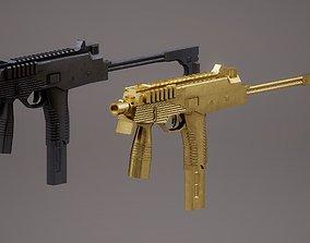 MP9 SMG PBR Rigged 3D asset
