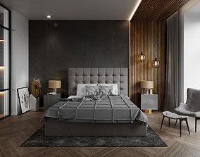 3D Bedroom Interior Cinema4D Corona