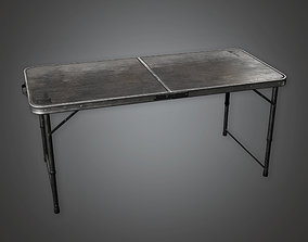 Folding Table 02 HLW - PBR Game Ready 3D asset game-ready