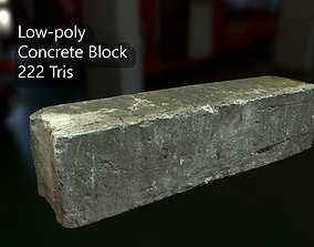 3D model PBR Concrete Block