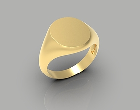 Simple signet rings 3-sizes pack 3D printable model