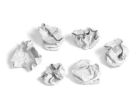 crumpled paper 3D package