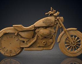 3D printable model Harley Davidson wall clock