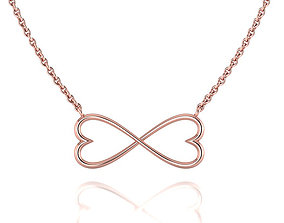 Infinity Hearts Necklace printable 3dmodel