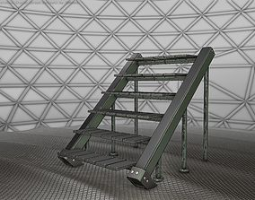 Sci-Fi Stairs - 16 - Green Version 3D model game-ready