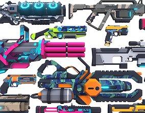 CB Sci-Fi Gun Pack Complete 3D model