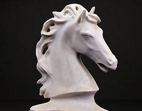 3D printable model Classical horse head sculpture
