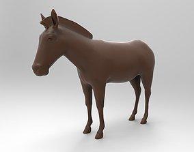 horse Zebra 3D print model