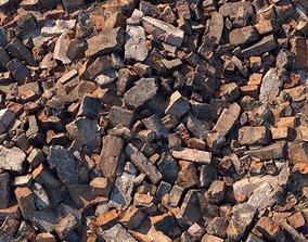 3D model Broken bricks material 01