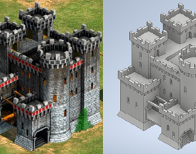Teutonic castle - Age of Empires II 3D printable model