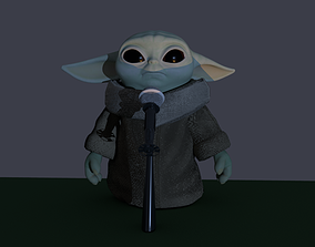 3D model Microphone with microphone-stand