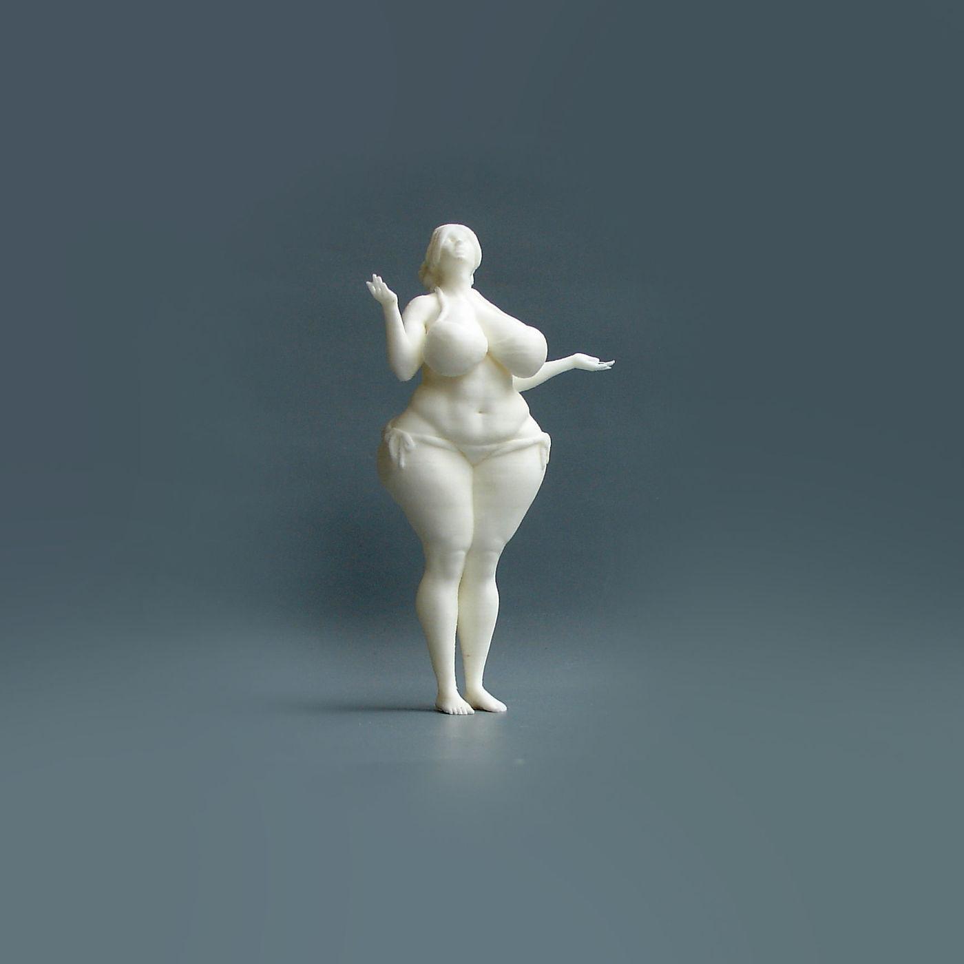 3d print of fat women in 18 scale