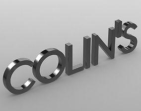 colins logo 3D model high