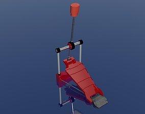 Drums Kick Paddle 3D Model