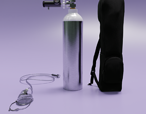 3D model Portable Oxygen Cylinder Kit