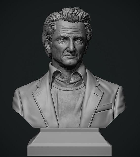 Sean Penn bust