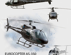 Eurocopter AS 350 Black 3D model